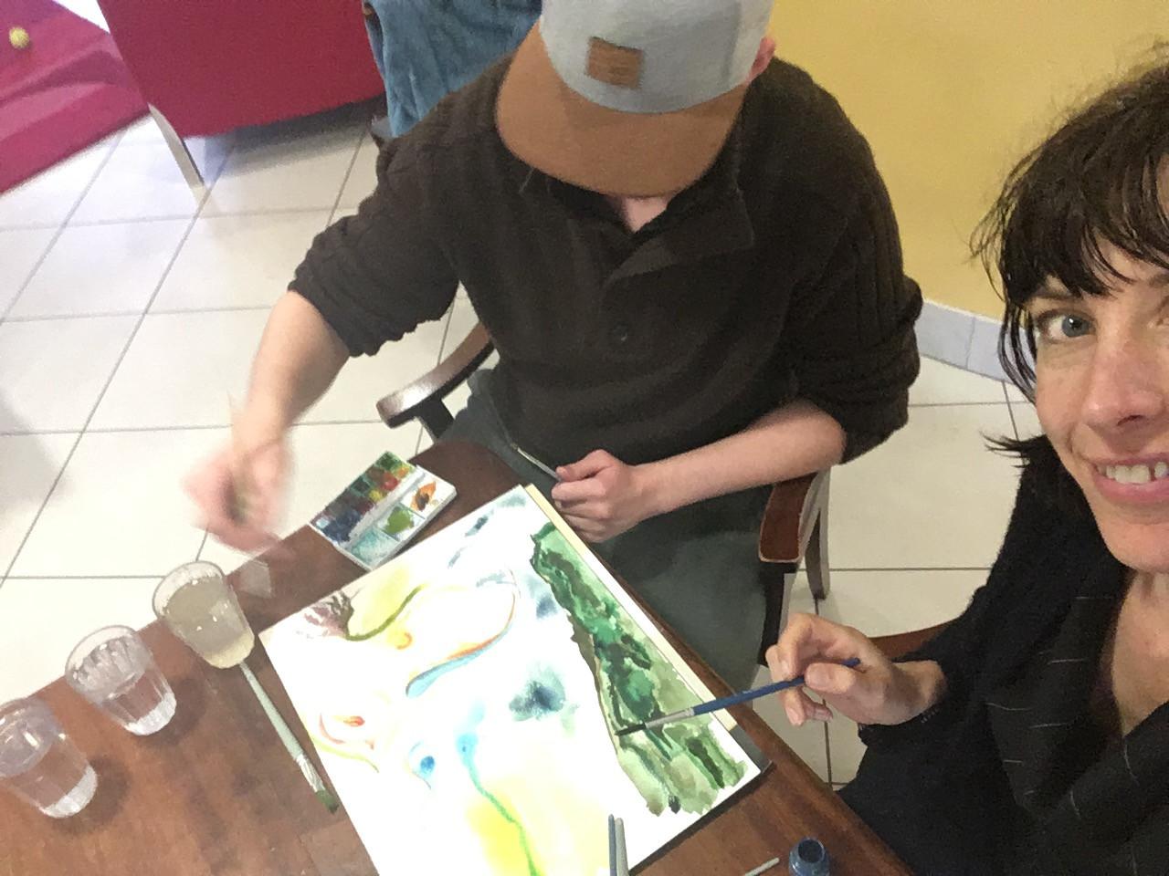 collaboration art making