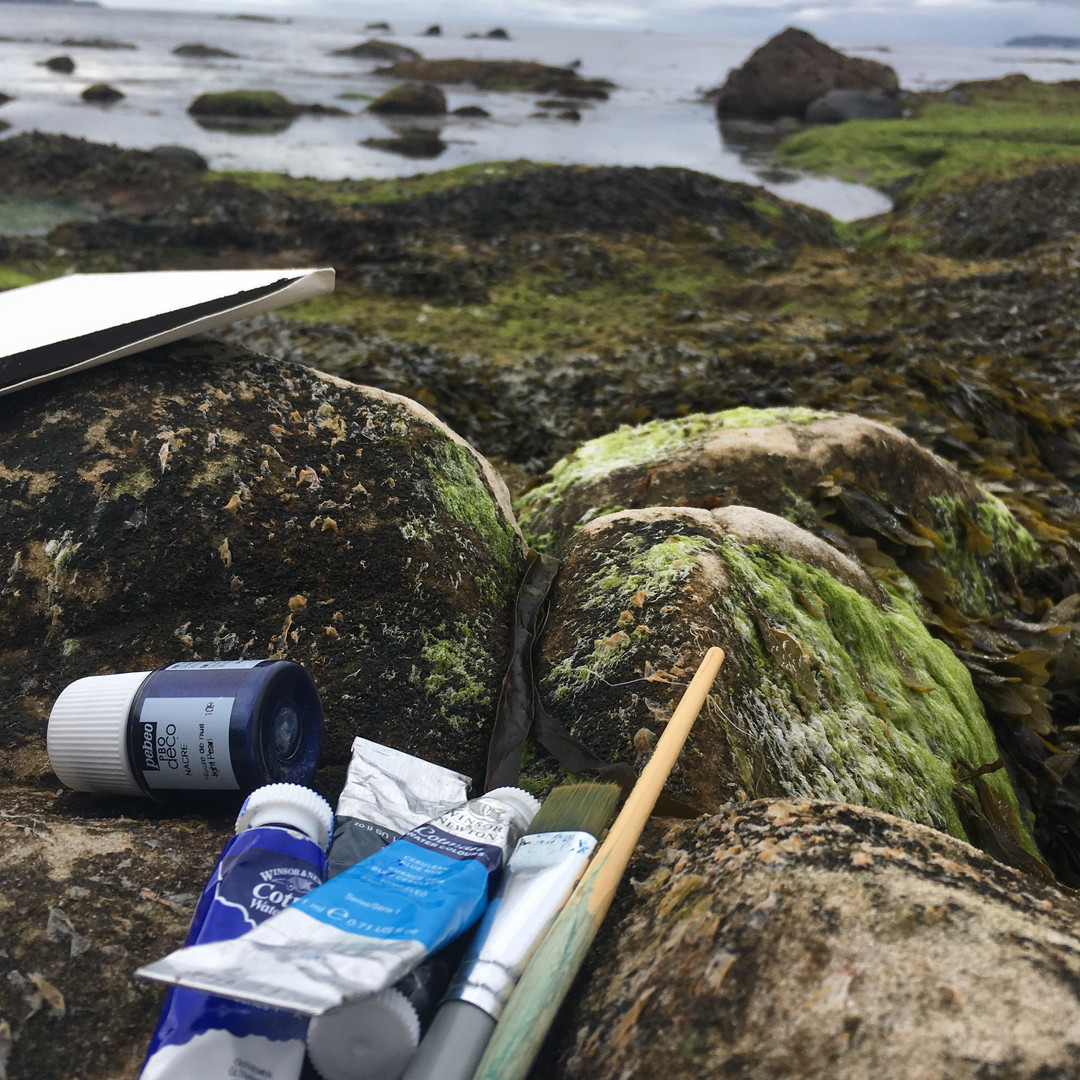 painting with ocean at ballycastle