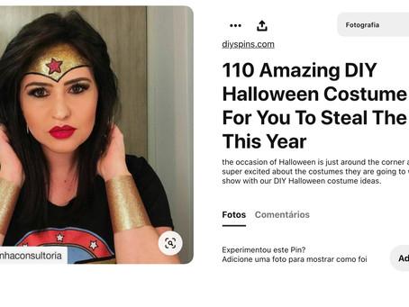 Fui eleita entre as 110 melhores fantasias de Halloween 😱🌟😱