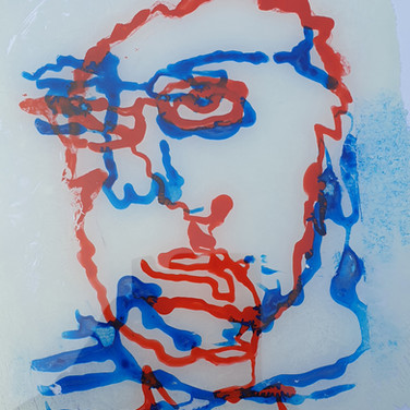 Drawing on glass with acrylic from 100 days project scotland