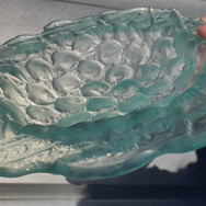 Bubble Bowl (in-hand), recycled window glass, kiln textured, dia. 25cm, width 6mm