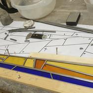 15. Sunbeam door panel under construction