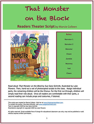 That Monster on the Block Reader's Theater Script