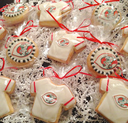Custom Baseball Logo Cookies