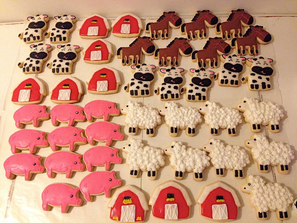 Barnyard cookies are finished!