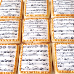Classical Sheet Music Image Cookies
