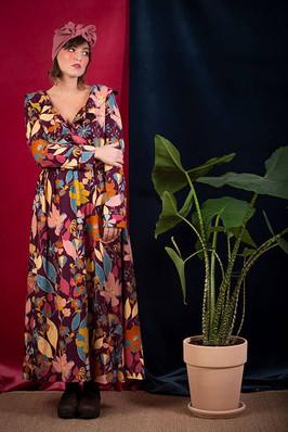 Abito Orchidea Lungo viscosa | Come Le Ciliegie