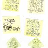 Scribbles Bleistift Ideensammlung