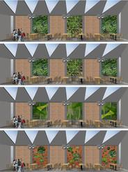 Visualising green walls for retail precinct