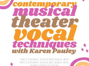 Contemporary Musical Vocals Workshop!