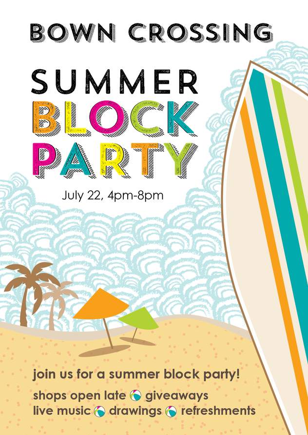 Bown Crossing Block Party - Invitation Design