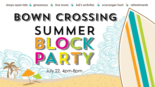 Bown Crossing Block Party - Facebook Banner Design