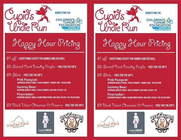 Cupid's Undie Run - Menu Design