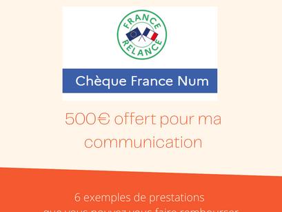 500€ offert pour ma communication : je fais quoi ?