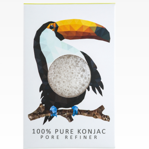 KONJAC MINI PORE REFINER RAINFOREST TOUCAN | 100% PURE KONJAC