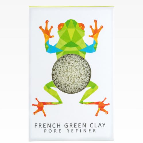 KONJAC MINI PORE REFINER RAINFOREST TREE FROG | FRENCH GREEN CLAY