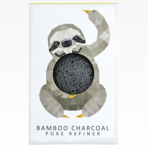 KONJAC MINI PORE REFINER RAINFOREST SLOTH | BAMBOO CHARCOAL