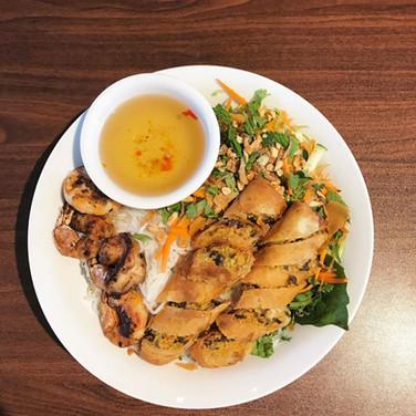 Shrimp + Eggroll Noodle Bowl