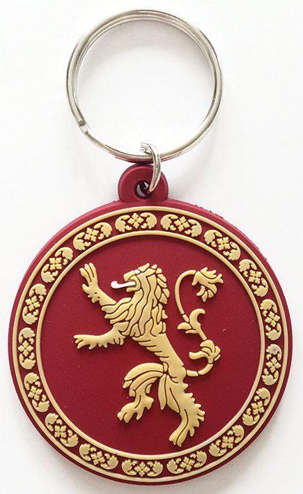 Porte-clés caoutchouc Lannister 6 cm