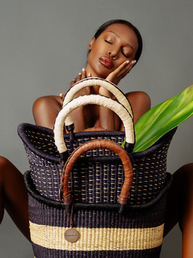 Black love, straw basket, ghana