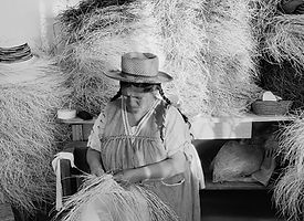 lady making hat