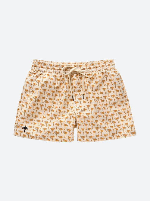 BEIGE PALM | SWIM SHORTS