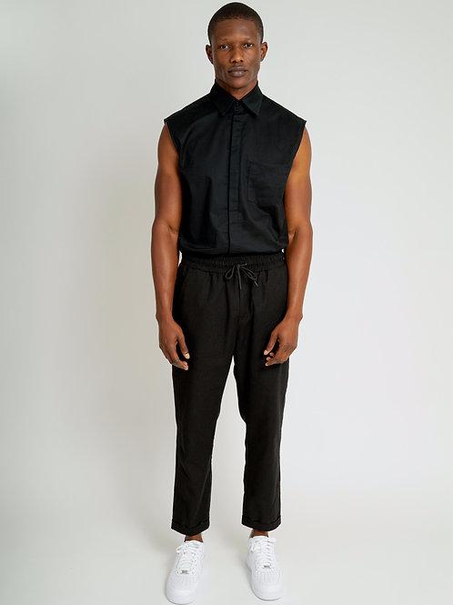 LINEN PANTS | BLACK
