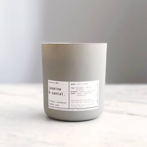 JASMINE + SANTAL | VIRGIN COCONUT CRÈME & WOODEN WICK CANDLE