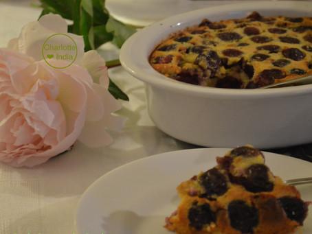 Clafoutis aux cerises et au lait d'amande (sans lait)