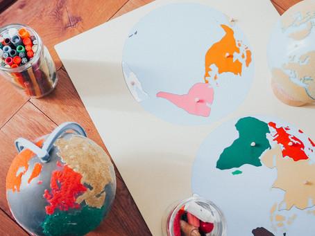 La Géographie dès 3 ans - DIY GLOBE MONTESSORI
