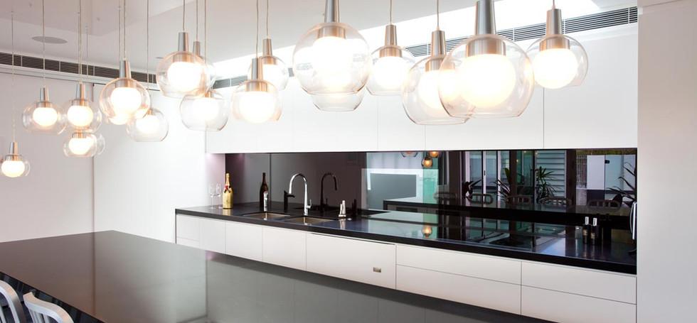 euroglass installed black glass splshback