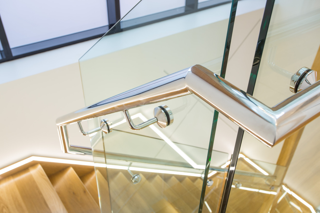 Custom welded handrail
