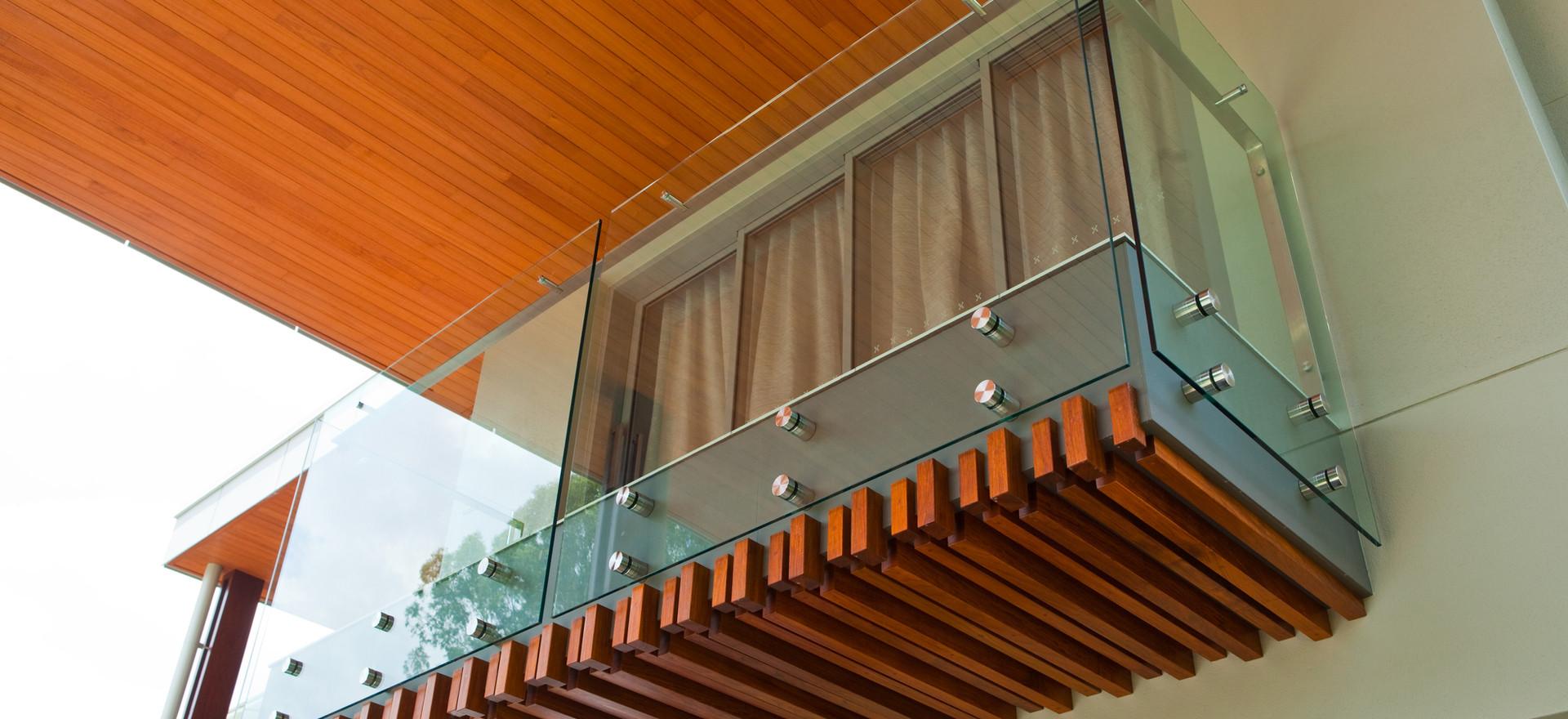 pin fixed balcony overlooking pool