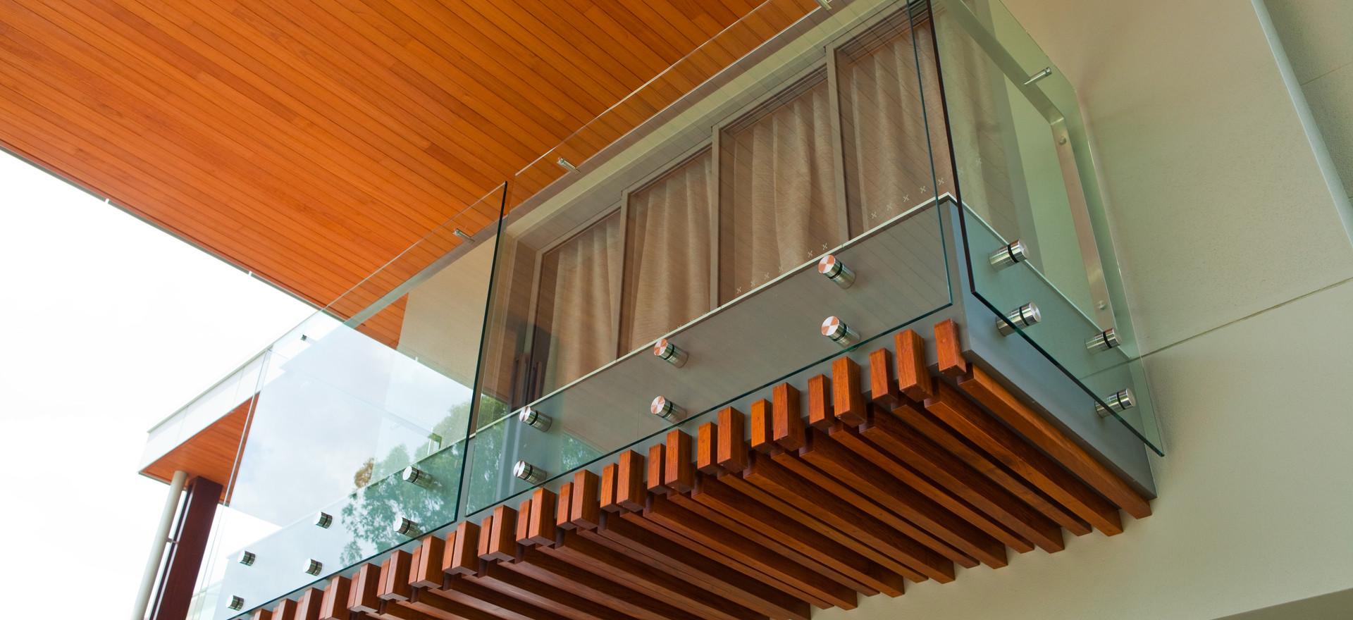 Pin fixed external balustrade brisbane