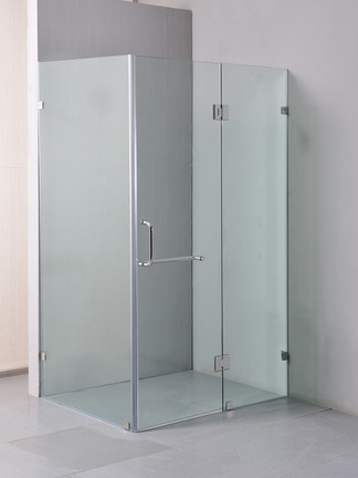 Square shower screen with large hangle brisbane