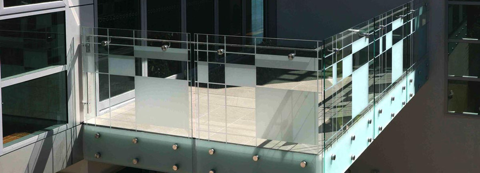 Geometric pattern for external balustrade brisbane