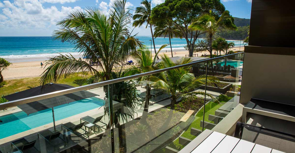 Glass Balustrade with uniterupted views of the ocean