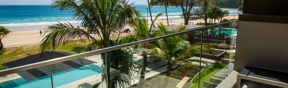 Noosa apartments frameless glass