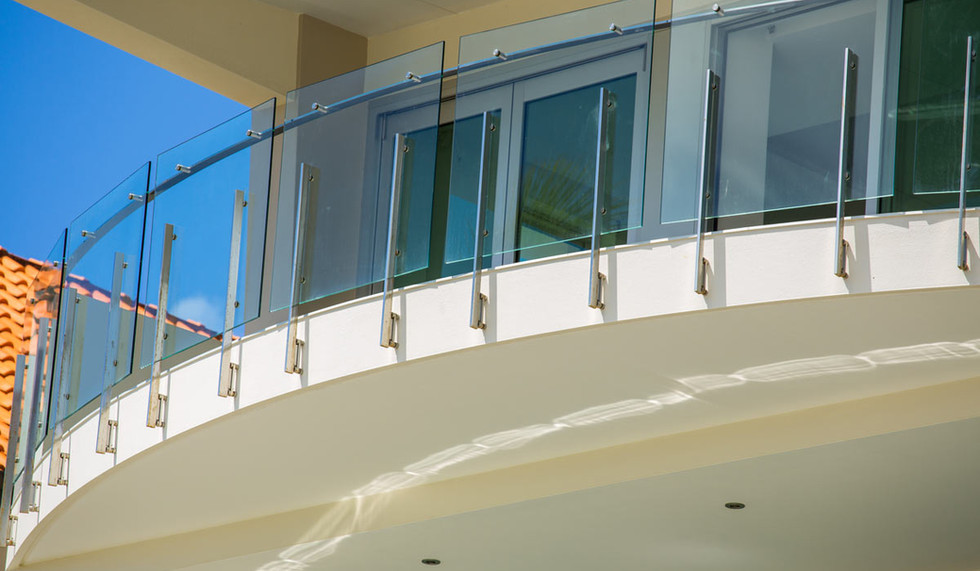 Structual engineered Balustrade with offset handrail