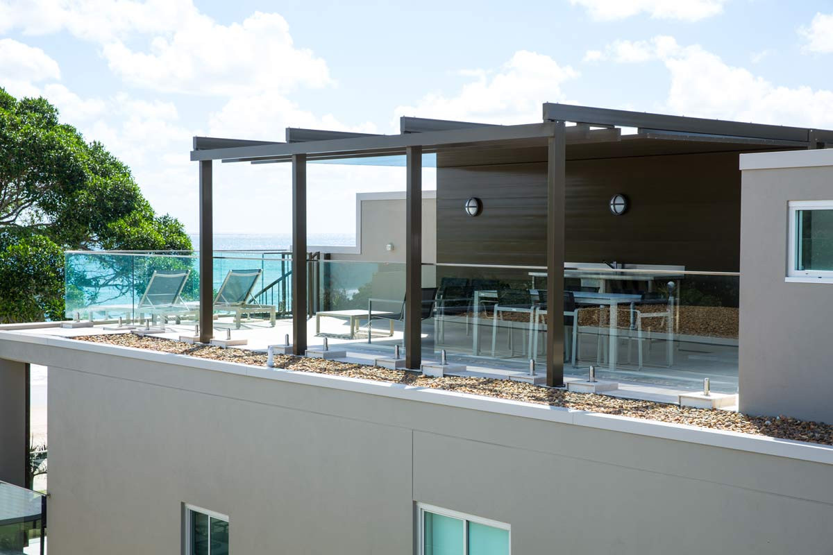 Engineered glass balustrade noosa