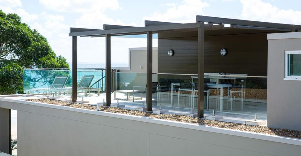 Engineered glass balustrade noosa