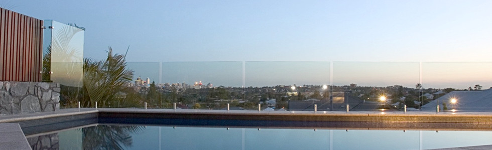 Uninterupted view of brisbane with a frameless pool fence brisbane