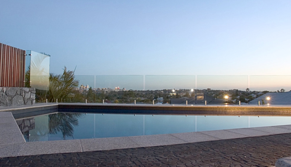 amazing pool fence overlooking brisbane city