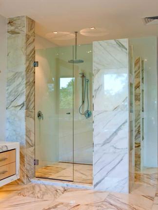 Euroglass inline frameless shower