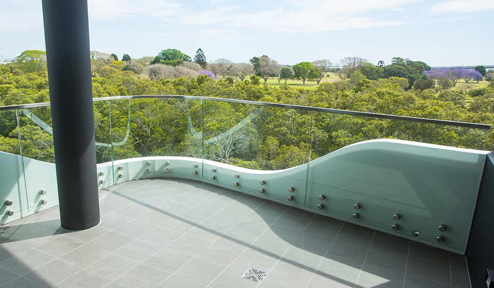 Curved pin fixed balustrade brisbane