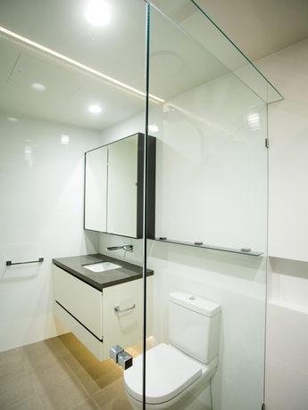 Inline shower with header brisbane