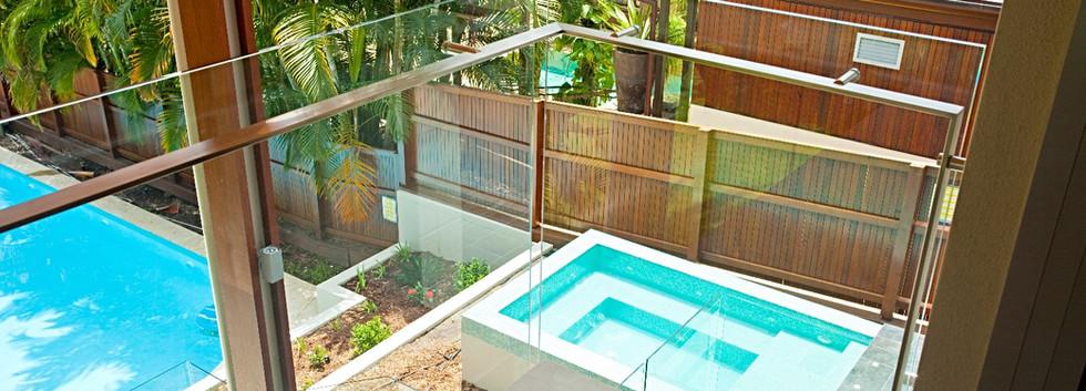 external balustrtade with offset handrail brisbane