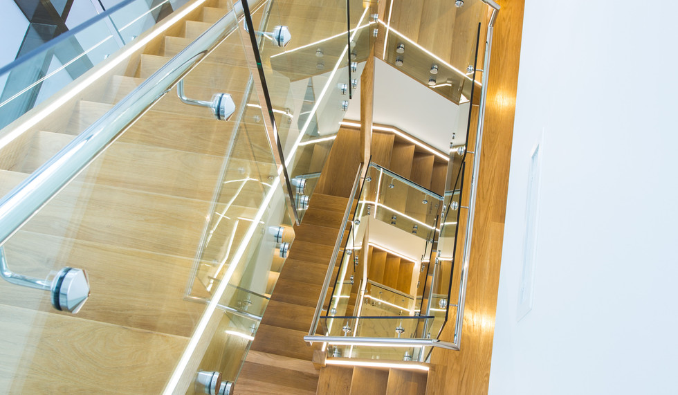 Five level staircase in a home in ascot brisbane