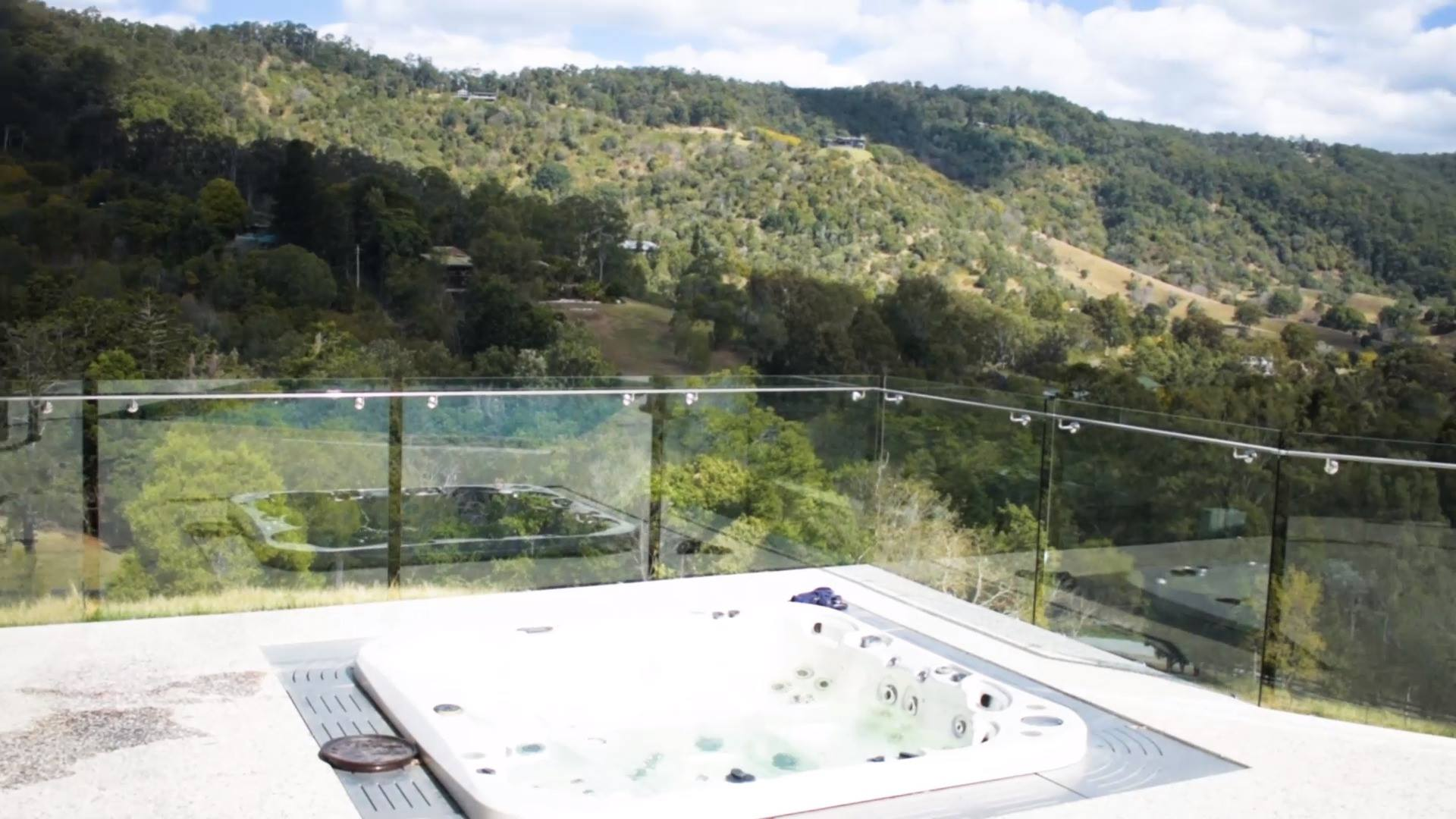 Glass Pool Fence with an amazing view.