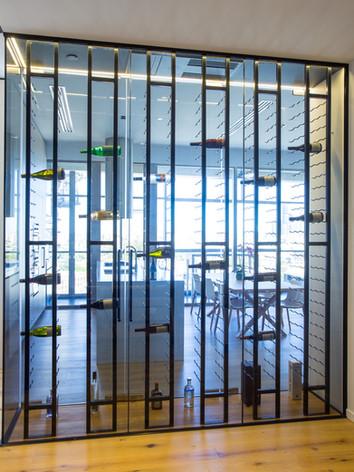 Frameless wine cellar brisbane